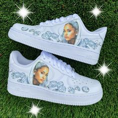 New Arrival💎 what do you think of this new Ariana Grande design?💭 LINK IN BIO Cute Nike Shoes, Cute Nikes, Cute Sneakers, Girls Sneakers, Sneakers Fashion, Fashion Shoes, Jordan Shoes Girls, Girls Shoes, Shoes Women
