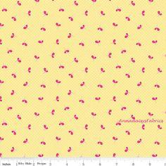 Yellow Baby Fabric Riley Blake C4144 Spot by AnnadaisysFabrics