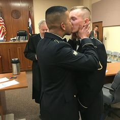 Army Couple Shares First Kiss as Newlyweds: 'It's Not a Big Deal to Be Gay in the Military Anymore' http://www.people.com/people/article/0,,20987970,00.html