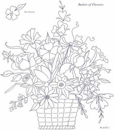 Free Coloring Page From Dover Publications Great For Shavuot Basket Of FlowersDover