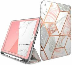 i-Blason Cosmo Case for New iPad Generation, iPad 2019 Case, Full-Body Trifold with Built-in Screen Protector Protective Smart Cover with Auto Sleep/Wake & Pencil Holder (Marble) - Cool Electronics Hogwarts, Apple 7, Pencil Holder, New Ipad, Ipad Air, Computer Accessories, Ipad Accessories, Screen Protector, Full Body