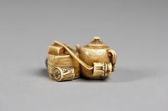 Tea Utensils Period: Meiji period (1868–1912) Date: second half 19th century Culture: Japan Medium: Ivory