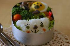 動物キャラ弁:白くま弁当