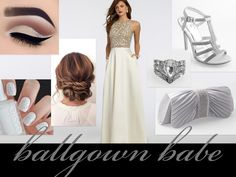 Long White Gown for New Year's Eve  Begin 2017 with a clean slate, figuratively and fashionably!  Glide into any formal New Year's Eve bash wearing this lovely ivory ballgown for an entrance worth savoring.  The stunning beaded bodice and chic box-pleated skirt are perfect for making a sleek, but subtle statement.  Match the ensemble with glittering white nails, pearly lids, and a twisted updo for ultra-sophistication.  Don't forget to grab a satin clutch and slip on a rhinestone ring before…