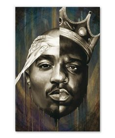 tableau-decoratif-biggie-tupac-hiphop-pop-art Biggie Smalls, Tupac Shakur, Tupac Wallpaper, Rap Wallpaper, Iphone Wallpaper, Arte Dope, Dope Art, Tupac Poster, 2pac And Biggie