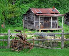 Old shack on the side of 431 in Glencoe, Al. Five shot HDR. - Pixdaus