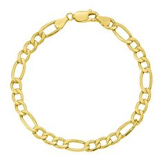 Circumference: 7 InchLink Construction: SemisolidStone: No StoneMetal Color: YellowChain Length: 7 InchChain Width: MillimetersMetal: GoldChain Construction: FigaroCare: Wipe CleanCountry of Origin: Imported Long Sleeve Evening Gowns, Fine Jewelry, Construction, Chain, Bracelets, Gold, Stuff To Buy, Products, Building