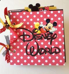 Premade Disney Scrapbook Mini Autograph Album by ArtsyAlbums, $35.00