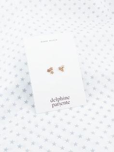 Boucles d'oreilles Trois Étoiles par Delphine Pariente