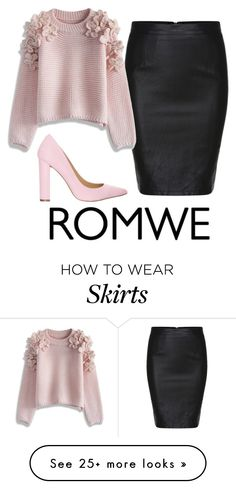 """""""slim skirt"""" by domuscina on Polyvore featuring Chicwish and Siren"""