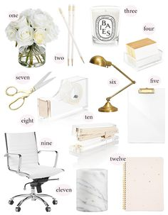 These items are inspired somewhat by the lovely Aerin Lauder, because I kind of fell in love with her home office and now I...