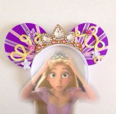 Disney's Tangled Rapunzel Mickey Mouse Minnie Mouse ears by seamcometrue on Etsy https://www.etsy.com/listing/247752890/disneys-tangled-rapunzel-mickey-mouse