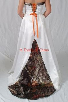 ***Nicole~Camo wedding dress??  I kinda like it!!! Then the girls in Camo  orange :)