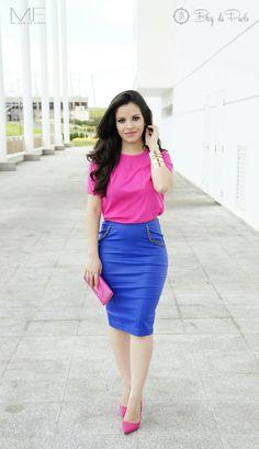 Look do Dia: Pink e Azul | Blog da Paola