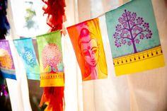 New style prayer flags BUDDHA mix. Spiritual, Yoga, Meditation, Boho decoration. Full of light and colors praying flags by BUDDHADOMA on Etsy https://www.etsy.com/listing/292735157/new-style-prayer-flags-buddha-mix