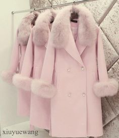 Luxury Womens Fur Collar Slim Belt Cashmere Wool Dust Coat Long Jackets Parkas #