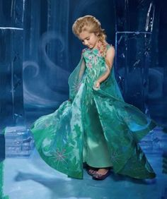 81c4f25fdd2a8e the ultimate collection elsa frozen fever girls costume - Anna's birthday  has arrived, Queen Elsa