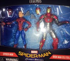 """Marvel Legends 6"""" Spider-Man: Homecoming Spider-Man & Iron Man 2-Pack In-Hand Images (UPDATE) #Marvel"""