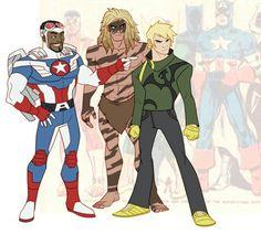 Iron fist Young Avengers, Marvel Avengers, Marvel Comics, Comic Books Art, Comic Art, Misty Knight, Captain Rogers, Hero World, Hero Time
