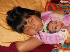 Beautiful Navajo Princess, Hannah, sleeping after a long day at Disneyland. She is sooooooo cute! - Original