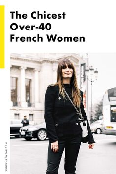 11 French Women Who Only Get Cooler as They Age Proof that French women are just flawless—these stunning French fashion girls who just get more stylish with age. French Chic Fashion, Parisian Chic Style, Minimalist Fashion French, French Minimalist Wardrobe, Paris Chic, Paris Fashion, Girl Fashion, Womens Fashion, Fashion Tips