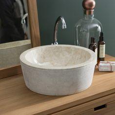 Waschbecken aus Marmor Exo Stri Cream