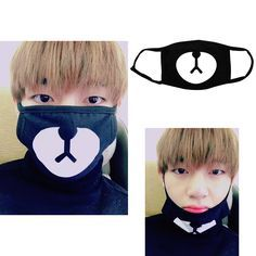 Bts Bangtan Boys Taehyung V Black Bear Mouth Mask Mouth Mask