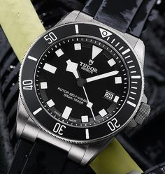 Tudor Dive Watch.  For the full story, visit: http://www.watchtime.com/featured/dive-watches-in-depth-a-dive-watch-faq/ #tudorwatches #watchtime #divewatch #watchnerd