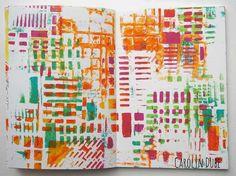 ARTIST SPOTLIGHT: GELLI PRINT PROJECT BY CAROLYN DUBE