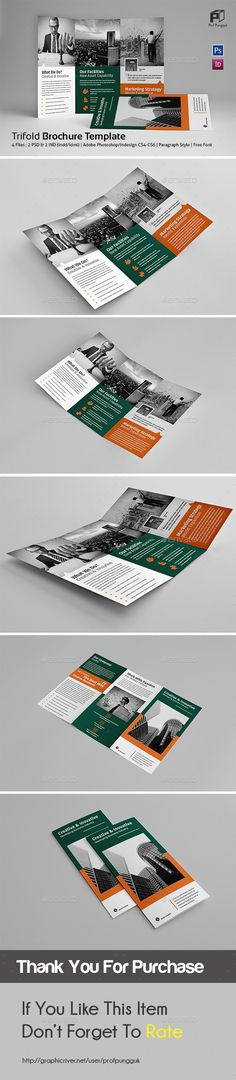 Business Trifold Brochure Template InDesign INDD. Download here: http://graphicriver.net/item/business-trifold-vol9/16231652?ref=ksioks