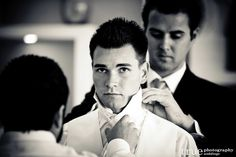 The concentration brilliant #getting #ready #wedding #photo