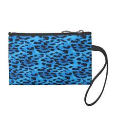 Blue Leopard Pattern Change Purses