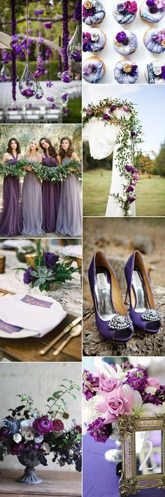 Ideas for including pantone ultra violet hues in your wedding theme on GS Inspiration - Glitzy Secrets