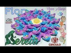 Flor Mayra de #crochê - Artes da Desi - YouTube