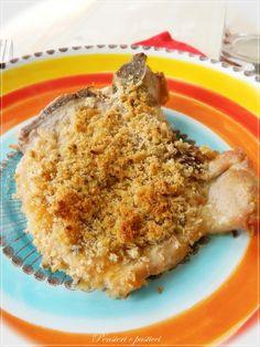 Pork chops with apricot crisp - Costolette di maiale croccanti all'albicocca