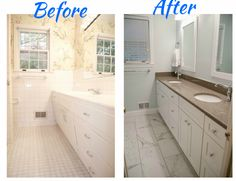 Bathroom Makeover Granite bathroom remodel - bathroom makeover - bathroom before and after