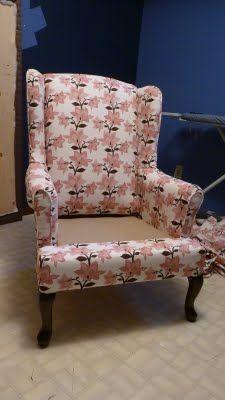 DIY: Re-Upholstering Furniture.  Step by Step Tutorial.