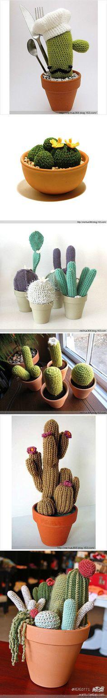 crochet art: crochet mini cactus   make handmade, crochet, craft