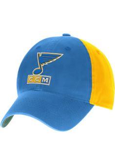 bdbffea2a77 Reebok St Louis Blues Mens Blue 2017 Winter Classic Duck Cloth Adjustable Hat  St Louis Blues
