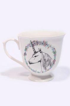 Unicorn teacup