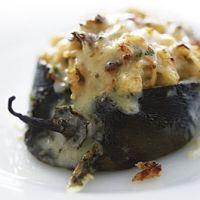 Baja Chili Rellenos Mariscos (seafood Stuffed Pablano) Recipe Original recipe can be found at foodnetwork.com