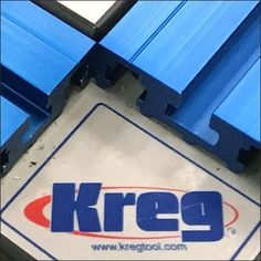 Selling simple woodworking clamps is easy, selling an entire work surface takes this Kreg Clamp Table Full-Size Floor Display. Retail Fixtures, Woodworking Clamps, Work Surface, Chevrolet Logo, Flooring, Display, Table, Floor Space, Billboard