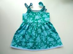 Adorable Itty Bitty Baby Dress, with link to the free pattern