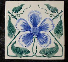 Jugendstil Fliese art nouveau tile Wessel Blüte floral stilisiert top apart