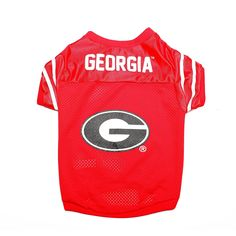 GEORGIA BULLDOGS DOG JERSEY-UNIVERSITY OF GEORGIA DOG SHIRT FOOTBALL JERSEY ** For more information, visit now : Cat Apparel