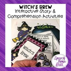 What's in the witch's brew? You'll have to find out! Your speech and language therapy students will adore this interactive story, especially as it helps them get in the mood for spooky Halloween night! Practice a variety of essential skills such as sequencing, wh questions, vocabulary, story comprehension, and more while having fun and celebrating!