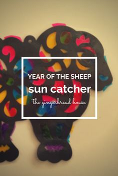 Year of the Sheep sun catcher - craft for kids