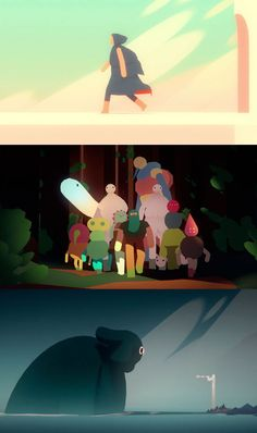 Style Frames 2016 : L'envoûtante séquence d'ouverture animée signée Eran Hilleli Low Poly, Animation Image Par Image, Art Puns, Animation 3d, Poesia Visual, Frame By Frame Animation, Character Design, Character Sketches, 3d Character