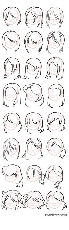 Hairstyles- straight by =fyuvix: design reference, drawing reference, hair reference, Drawing Lessons, Drawing Techniques, Drawing Tutorials, Drawing Tips, Art Tutorials, Drawing Ideas, Drawing Art, Drawing Style, Drawing Poses