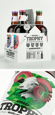 Amazing Trophy Beer by Galya Akhmetzyanova & Pavla Chuykina | Inspiration Grid | Design Inspiration